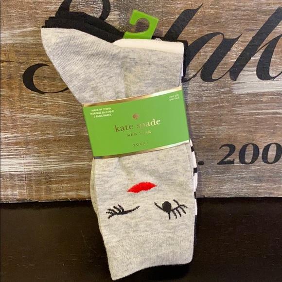 Kate Spade Wink Face Trouser Socks
